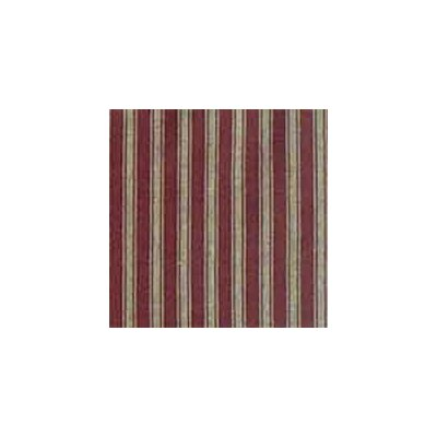 Patch Magic Deep Red with Tan Stripes Bed Skirt / Dust Ruffle