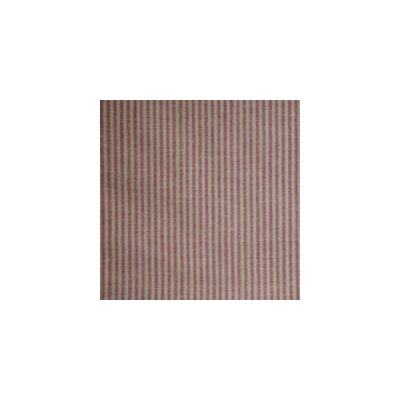 Red and Beige Ticking Toss Pillow