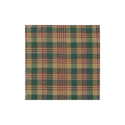 Green and Warm Brown / Red Plaid Window Curtain