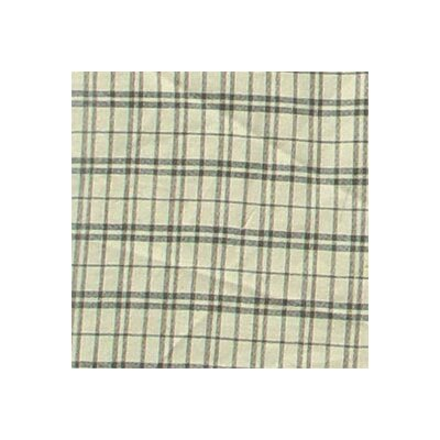 Patch Magic Cream Plaid Cotton Rod Pocket Curtain Valance