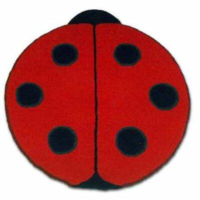 Patch Magic Ladybug Red Kids Rug