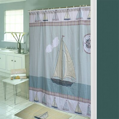 Patch Magic Nautical Cotton Shower Curtain & Reviews | Wayfair