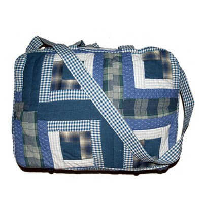 Patch Magic Blue Log Cabin Tote Bag