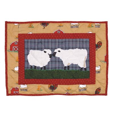 Patch Magic Barnyard Cotton Crib Toss Pillow