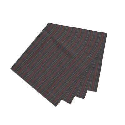 Patch Magic Black With Tan Gold Stripes Fabric Napkin (Set of 4)