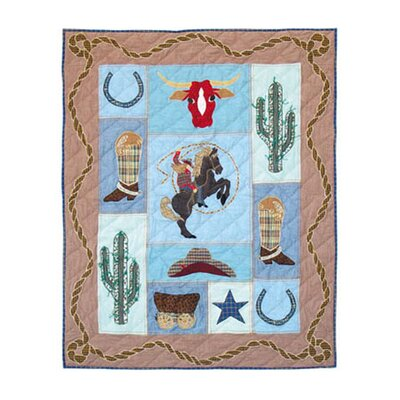 Patch Magic Cowgirl Cotton Crib Quilt