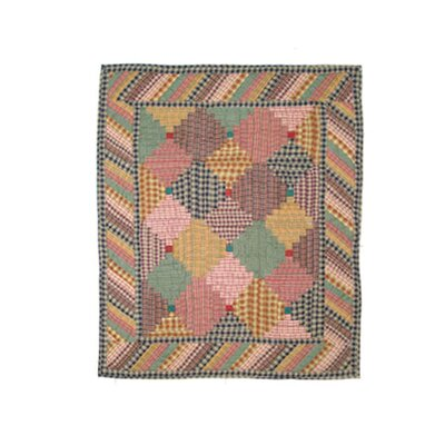Patch Magic Harvest Log Cabin Cotton Crib Quilt
