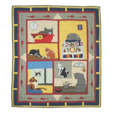 Cats Tale Cotton Throw