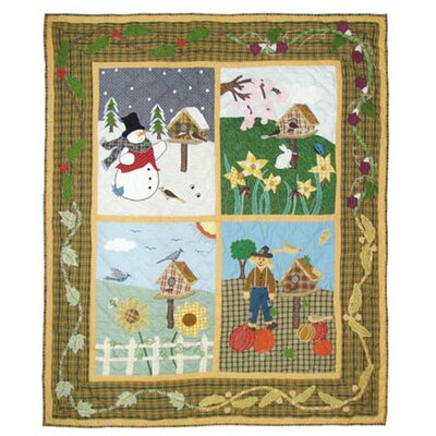 Patch Magic Four Seasons Cotton Throw