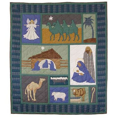 Nativity Cotton Throw