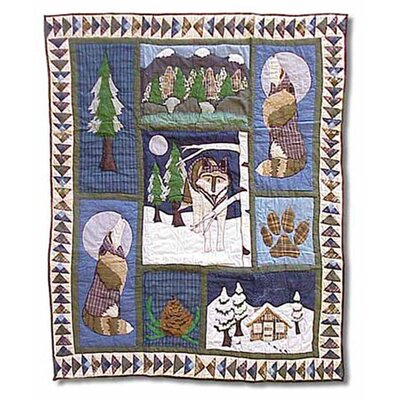 Wolf Cotton Throw