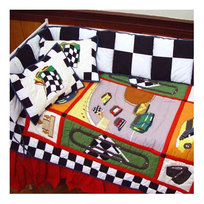Patch Magic Racecar 6 Piece Crib Bedding Set