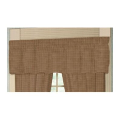 "Patch Magic Acres of Acorns Checks Rod Pocket 54"" Curtain Valance"