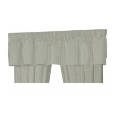Patch Magic Off White Linen Rod Pocket Curtain Valance
