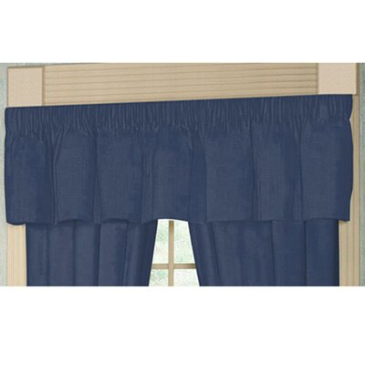 Patch Magic Blue Dark Chambray Rod Pocket Curtain Valance