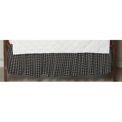 Patch Magic Cream and White Gingham Checks Fabric Crib Dust Ruffle