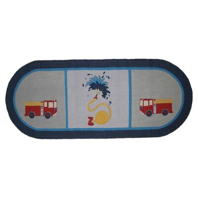 Patch Magic Fire Truck Runner Kids Rug