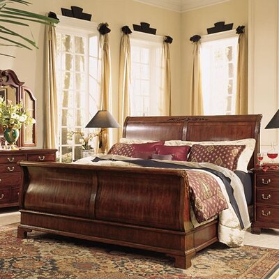 American Drew Grove Sleigh Bed