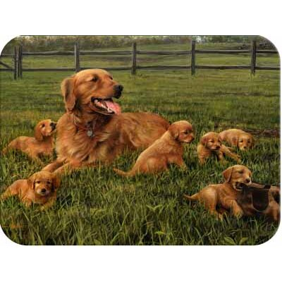 McGowan Tuftop Retriever and Pups Cutting Board