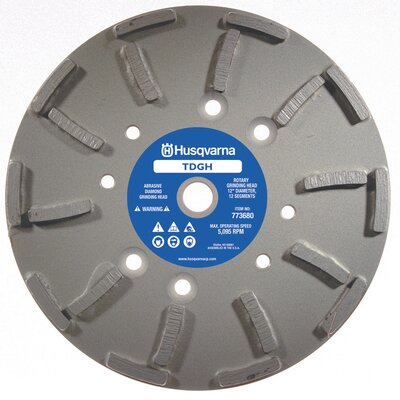 Husqvarna TDGH General Purpose Diamond Grinding Heads with 20 Segments