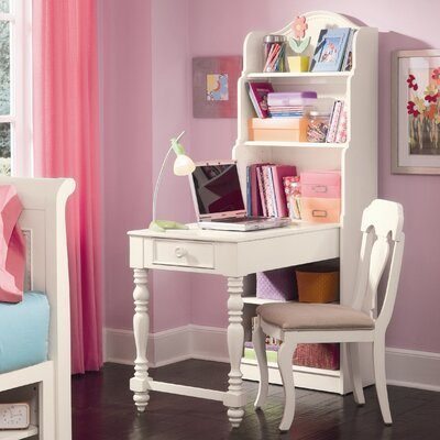 Hannah Bookcase Writing Desk with Hutch