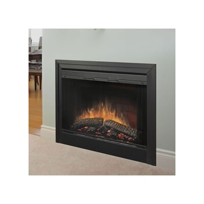 Dimplex 2-Sided Built-in Electric Fireplace with Bifold Glass Door and Trim