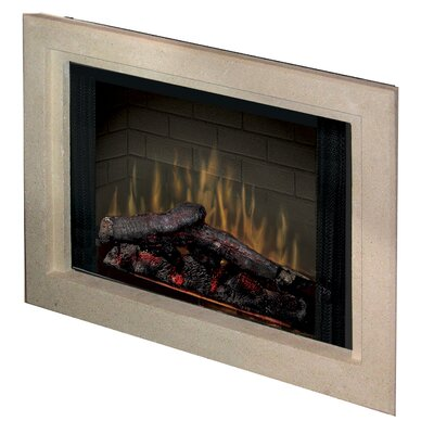 "Dimplex Electraflame 33"" Built-in Electric Firebox with Glass Door and Trim"