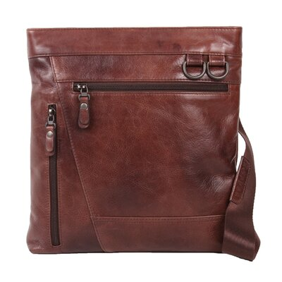 Dr. Koffer Fine Leather Accessories Rustic Zip Pockets Shoulder Bag