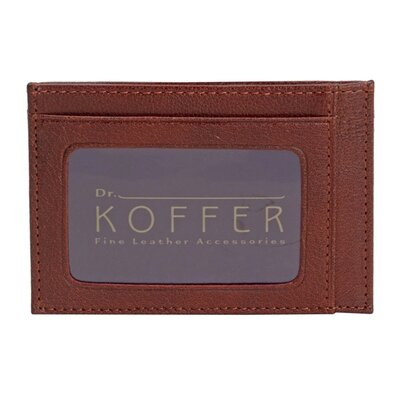 Dr. Koffer Fine Leather Accessories Slim Front Pocket with Clip and ID
