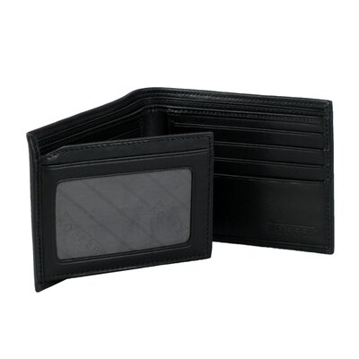 ID Wallet with Fold Out Flap in Nappa Onyx