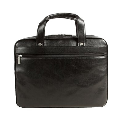 Slim Leather Laptop Briefcase