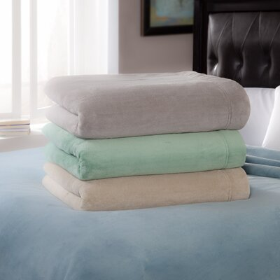Serta Perfect Sleeper Luxe Plush Micro Fleece Electric Throw