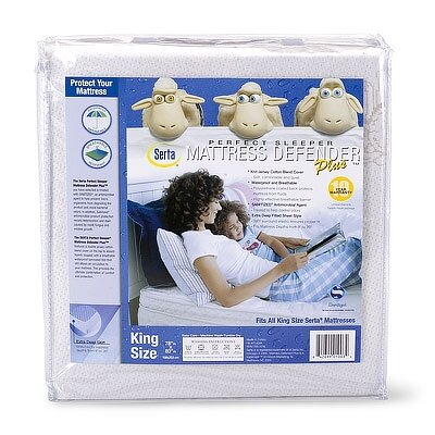 Serta Serta Perfect Sleeper Cotton Blend Mattress Defender Plus Waterproof Mattress Cover