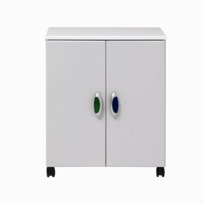 Caxton MyPod 2 Door Cupboard in White and Grey