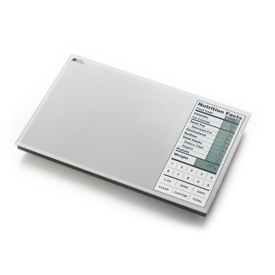 Perfect Portions Digital Scale with Nutrition Facts Display in Silver