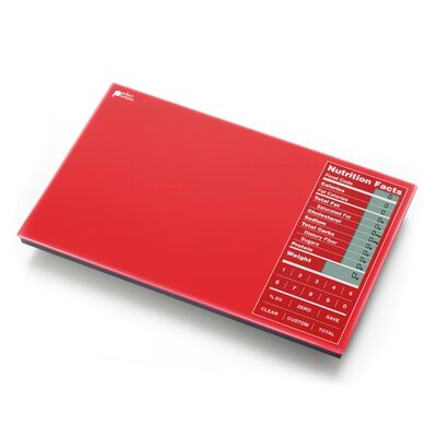 Perfect Portions Digital Scale with Nutrition Facts Display in Red