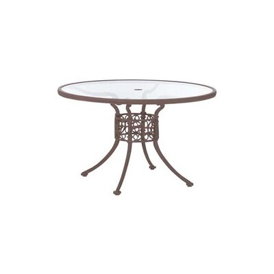 Woodard Landgrave Chateau 48&quot; Round Umbrella Table