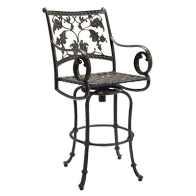 "Woodard Landgrave Old Gate Swivel 34.6"" Barstool with Loose Cushion"