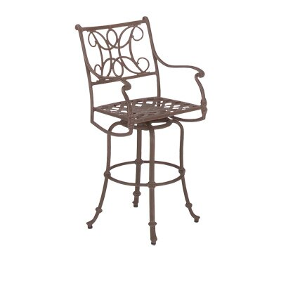 Woodard Landgrave Chateau Swivel Counter Stool with Loose Cushion