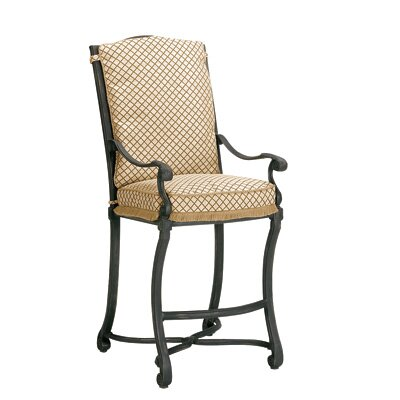 "Woodard Landgrave Villa Stationary 36"" Barstool with Cushions"