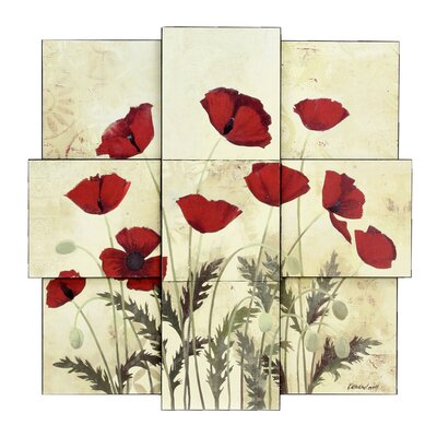 Style Craft Poppies Wall Décor