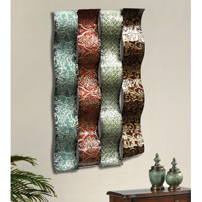 Ribbons Metal Wall Plaque