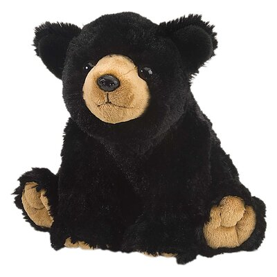 Wild Republic Cuddlekin Black Bear Plush Stuffed Animal