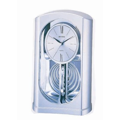 Rhythm U.S.A Inc Silver Mirrored Motion Clock