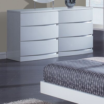 Global Furniture USA Aria 6 Drawer Dresser