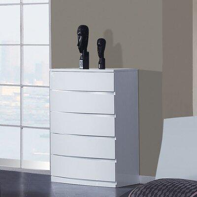 Global Furniture USA Aria 5 Drawer Chest