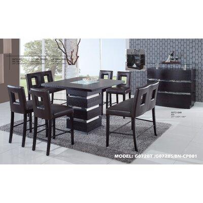 global furniture usa jordan 7 piece counter height dining set