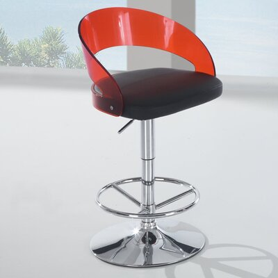 Global Furniture USA Adjustable Bar Stool with Cushion