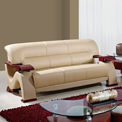 Global Furniture USA Leather Loveseat