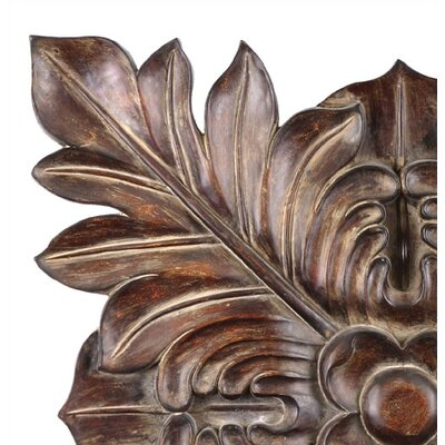Uttermost Four Leaves Wall Art Plaque in Chestnut Brown